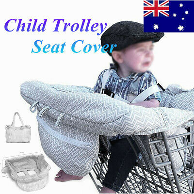 Baby Shopping Trolley Seat Cover Soft Cotton Protective Child High Chair Mat AU