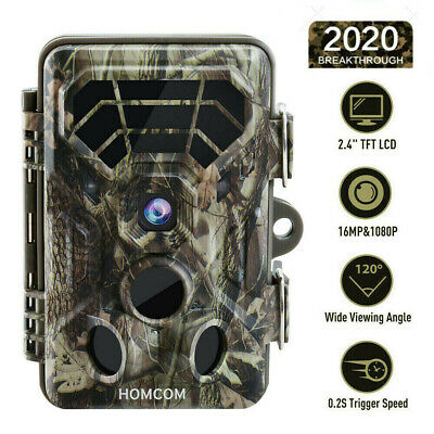 16MP Hunt Trail Camera Low Glow Outdoor Tree Cam Night Vision Motion Activated