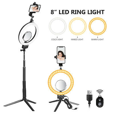 Neewer 8-inch LED Ring Light with Tripod Stand Selfie Stick for YouTube Video