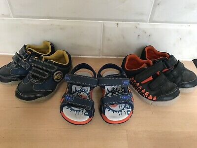 0faacd8434f Infant Boys First Size Clarks Navy Trainers Shoes Bundle 4G /H Leather &  Sandals