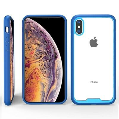 Hybrid Shockproof Acrylic Back TPU Bumper Case Cover For iPhone XS Max XR X 6 6s