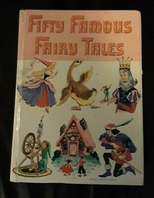 Fifty Famous Fairy Tales Vintage Children's Whitman Florence Sarah Winship Book