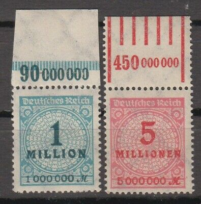 Germany 1923 1 million and 5 million Mark MNH