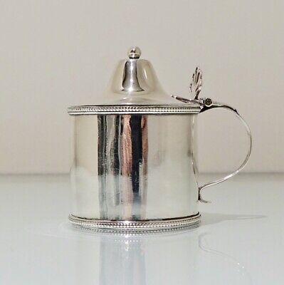 Antique George III Sterling Silver Mustard Pot Newcastle 1790 James Crawford