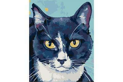 Wizardi Paint By Numbers Kit - Lada - Cat - includes mini easel
