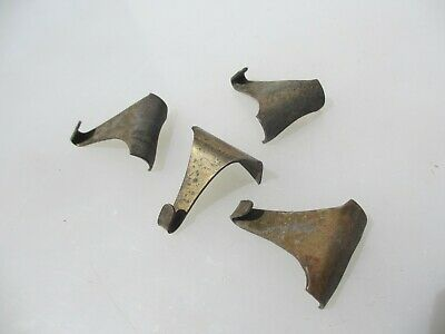 Victorian Brass Picture Rail Hook Moulding Hanging Antique Hooks Hangers Old x4