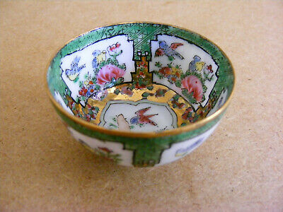 Miniature Chinese Famille Rose Hand Painted Porcelain Bowl
