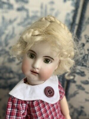 "MOHAIR doll wig size 10-11/""  Charlotte dark blonde Shiny New Mohair Doll Wig"