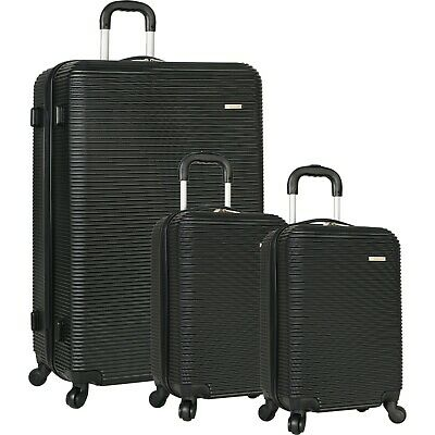 Lightweight Hardside Spinner Wheels Black Family Luggage Set with 2 Carry Ons