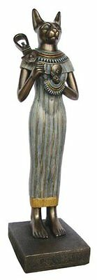 "15.5"" Egyptian Bastet Sculpture Ancient Egypt Statue Cat Figurine Figure"