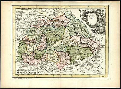 Eastern Germany Upper Saxony Haute Saxe 1767 Le Rouge decorative map