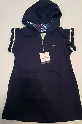Vineyard Vines Toddlers Baby Girls  2T Blue Hooded Swim Cover Up NWT
