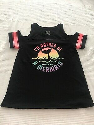 SO Girls Shirt, size 12  cotton, polyester I'd Rather Be In Mermaid