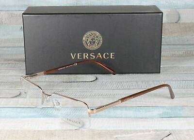 6fd7abeddf7d VERSACE VE1066-1053 LIGHT BROWN Demo lens 50 mm Men's Eyeglasses ...