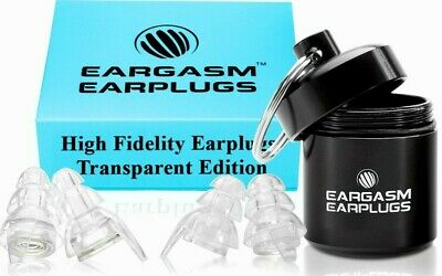 Eargasm High Fidelity EarPlugs Ear Plugs Transparent Edition Premium Gift Box
