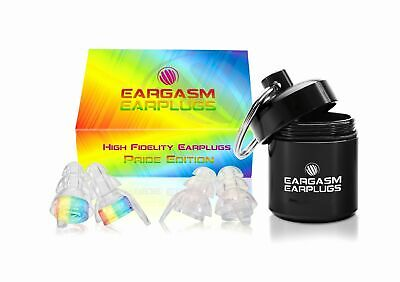 Eargasm High Fidelity EarPlugs Ear Plugs Pride Edition with Premium Gift Box