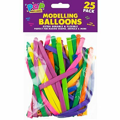25 x Magic Modelling Twisting Balloons Birthday Party Mixed Colours Decoration