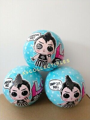 LOL Surprise BOYS Series 1 Blue Ball Pack Set of 3 Lot New AUTHENTIC IN HAND 2 4