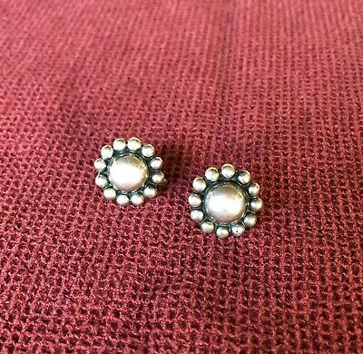 Vintage Mexico Sterling Silver Screw-Back Earrings - Classic Style