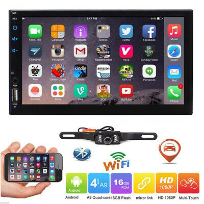 Android 7.1 Double 2 Din Car DVD Player Radio Stereo Head Unit GPS SAT NAV DAB+E