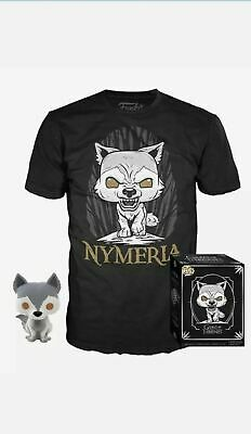 Nymeria Funko Pop and XL Tee Shirt - Game of Thrones Hot Topic Exclusive IN HAND