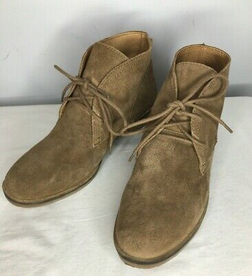 dba48ae88 Lucky Brand Garboh Womens Size 8M Tan Suede Leather Chukka Ankle Boots