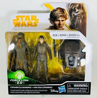 """""""NEW"""" Star Wars Han Solo & Chewbacca Mimban Force Link 2.0 Action Figure 2-Pack"""