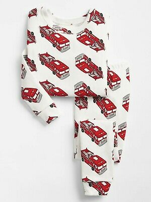 NWT - Boys Baby Gap Fire Truck Rescue Long Sleeve Pajamas Set  Size 5T / 5 Years