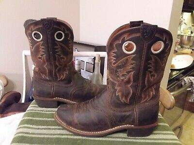 e7b1806aa62 ARIAT WOMEN'S HERITAGE Roughstock Boots Antique Brown 10001594 (29324) Size  10B