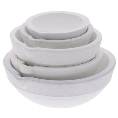 Crucibles Melting Dishes Ceramic 5 Sizes Casting Torch Melt Jewelry t#s