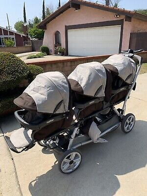 Peg Perego Triple Stroller With Infant Car Seats