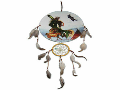 Indian Chief & Teepee Dreamcatcher - Brand New