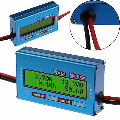DC Watt meter with LCD display for balance voltage current DC 0-60V 0-100A