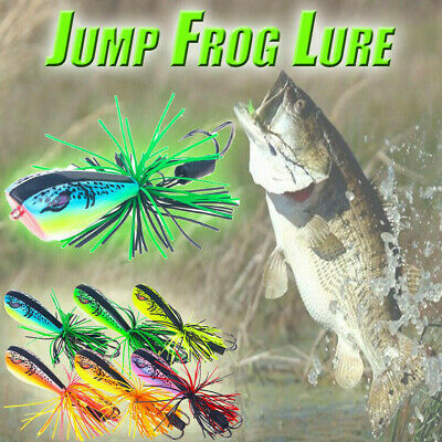 Jumping Frog Lure Topwater Lure 90mm 10g Double Strong Low Y7I2 Jump Hook I2I7