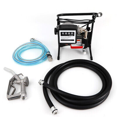 375W Combustible Gasoline Diesel Oil Pump With Dispensing Gun +2 Dourable Hoses