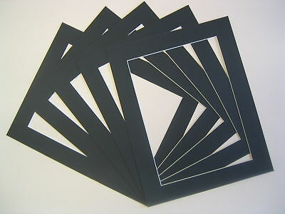 Picture Photo Frame Mounts Pack Of 4 8 Or 20 Various Sizes A3 A4 Black