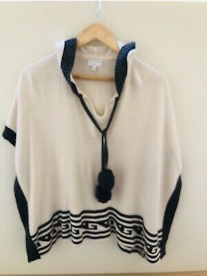 Girls WITCHERY L PONCHO Cotton And Cashmere (sz 14-16) As New