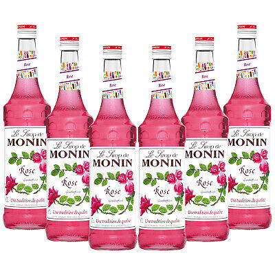 Monin Sirup Rose, 0,7L, 6er Pack