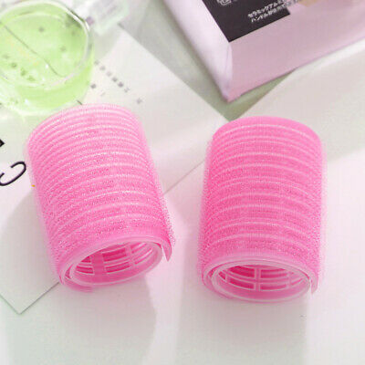 2x Double Layer Self Grip Cling Hair Roller Pro Salon Curler Hairdressing Tool