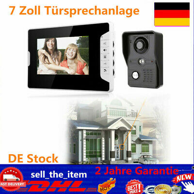 "7"" Farb Video Gegensprechanlage Türsprechanlage Monitor Klingel Sprechanlage NEU"
