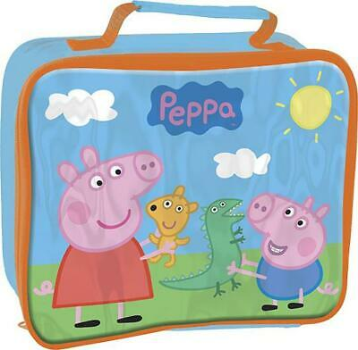 PEPPA PIG Insulated Pink Rectangular Lunch Bag for Kids 26 x 21 x 7 cm