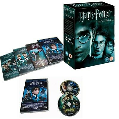 New Harry Potter 1-8 Movie DVD Complete Collection Films Box Set New Sealed
