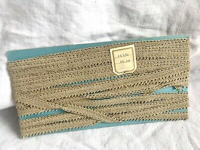 Vintage Lace Tape Lace Trim Ecru Top Quality French Edging Original Card 10y NOS