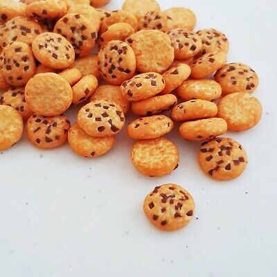 10x Loose Chocolate Chip Biscuits Dollhouse Miniatures Food Bakery Barbie Decor