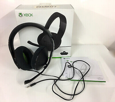 Xbox Microsoft Official Wired Stereo Headset - Black