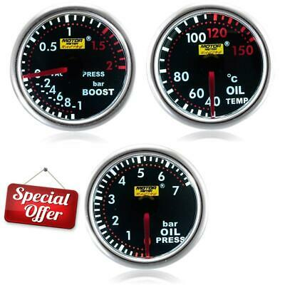 3 Gauge Offer - 52mm Smoked Turbo Boost, Oil Temp, Oil Pressure **Clearance**