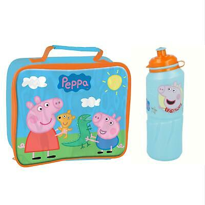 Peppa Pig Kid's 530ml Bottle & 26x21x7cm Insulated Lunch Bag Set
