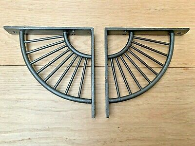 PAIR OF SUNRISE Cast iron Rustic Vintage Shelf Support Book Bracket