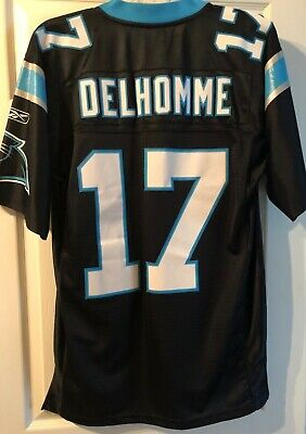 6a0da65a Vintage #17 Jake Delhomme Carolina Panthers Football Jersey STITCHED Name/#  Med