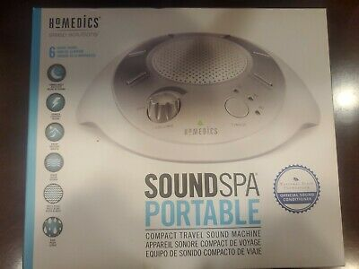 Homedics Sound Spa Portable Compact Travel Sound Machine With 6 Nature Sounds